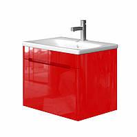 Тумба в ванную JUVENTA Tivoli Tv-65 с умывальником красная