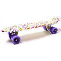 "Penny Board ""Violet Flowers"""