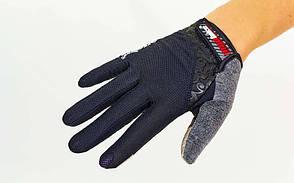 Велоперчатки с пальцами MADBIKE SK-13  (L, Черный), фото 3