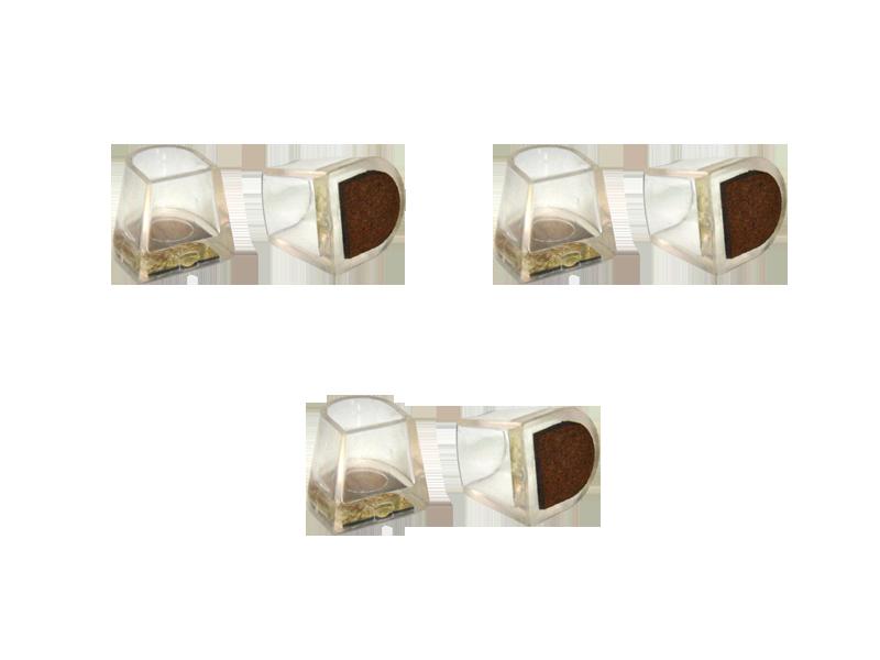 Накаблучники для танцювального взуття Contour(3 шт)шкіра