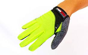 Велоперчатки с пальцами MADBIKE SK-13  (M, Салатовый), фото 2