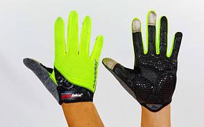 Велоперчатки с пальцами MADBIKE SK-13  (M, Салатовый), фото 3