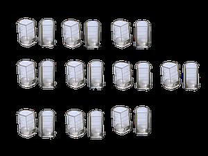 Накаблучники  для бальных танцев SLIM(10пар в упаковке)