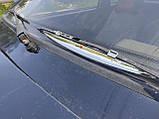 Ветровики - спойлеры хромированные TUPE-R декоративные на стеклоочистители, фото 3