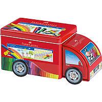 Набор фломастеров в жестяной контейнере-машинке 33 цвет от Faber-CastelI, фото 1