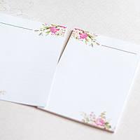 Набор листиков для блокнота А6 цветы №1