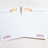Набор листиков для блокнота А6 цветы №2
