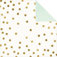 Лист скрап бумаги с фольгированием My Minds Eye On Trend Foiled Двусторонний 30х30 см Party Confetti W/Gold (OT1011)