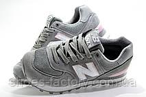 Кроссовки женские в стиле New Balance 574, Gray\Pink, фото 3