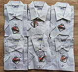 Детская рубашка с коротким рукавом Светло-серая от 122 до 164 см, фото 2