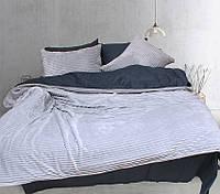Постельное белье Зима Лето сатин велсофт на молнии Евро 200х215 TAG - Grey