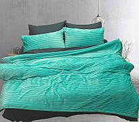 Постельное белье Зима Лето сатин велсофт на молнии Евро 200х215 TAG - Mint