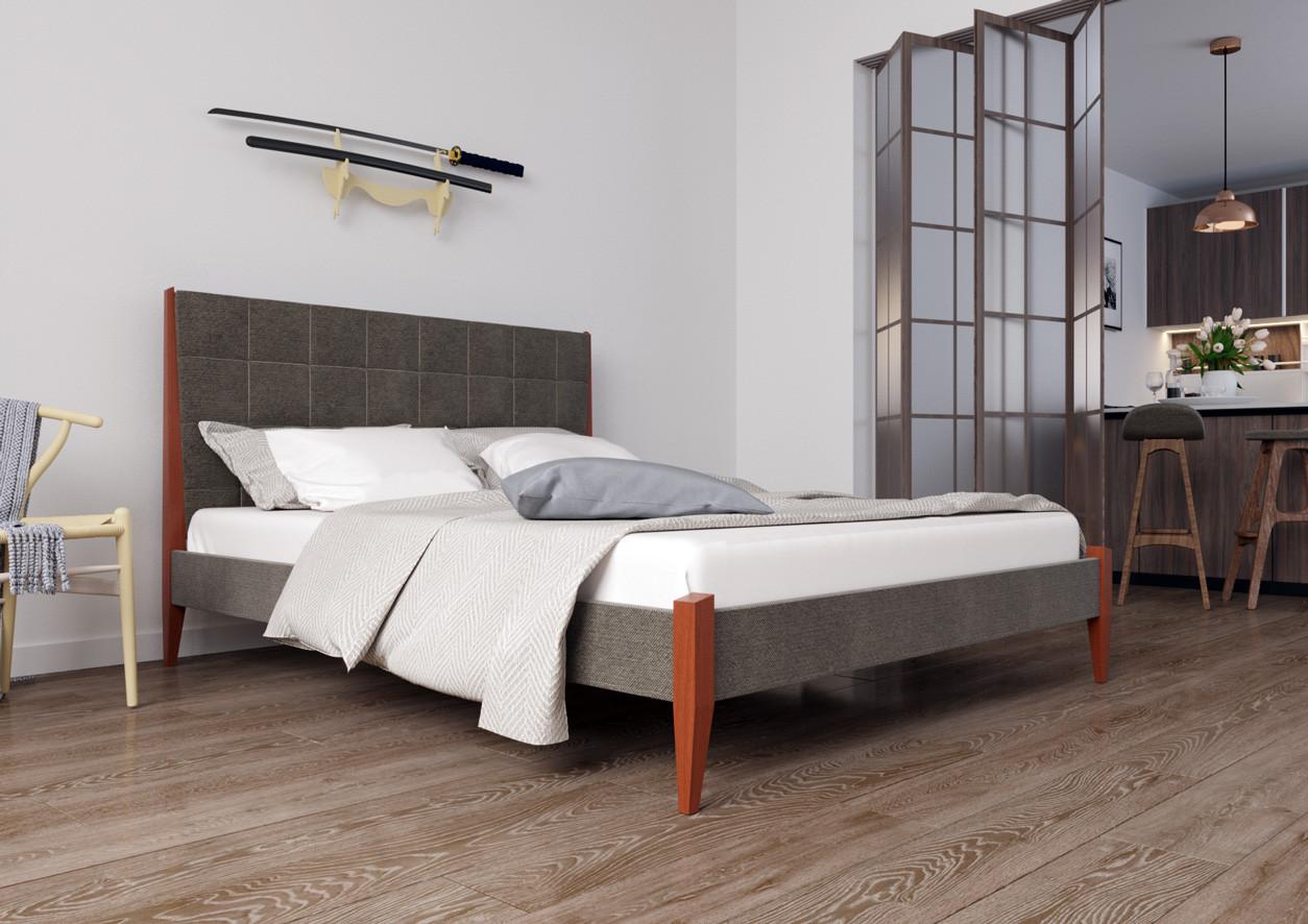 Ліжко Токіо з м'яким узголів'ям ЧДК