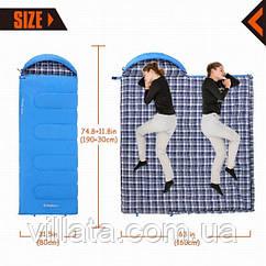 Спальник KingCamp Oasis 250 (blue,правая) Спальный мешок