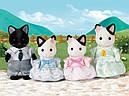 Sylvanian Families (Calico Critters) семья Котов в смокинге Tuxedo Cat Family, фото 4