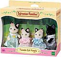 Sylvanian Families (Calico Critters) семья Котов в смокинге Tuxedo Cat Family, фото 6