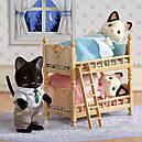 Sylvanian Families (Calico Critters) семья Котов в смокинге Tuxedo Cat Family, фото 7