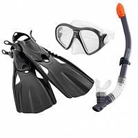 Набор 3 в 1 для плавания Intex 55657 маска трубка и ласты (to-250486)