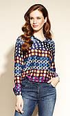 Жіноча блуза Daudi Zaps синього кольору.