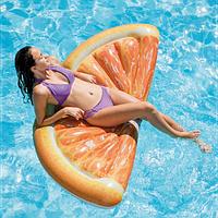 Надувной Пляжный матрас-плот для плавания  Intex 58763 Долька Апельсина 178 х 85 см (to-58763)