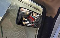 Авто зеркало в салон авто 11*6 см. Салонное зеркало слепых зон, универсальное, на присоске. KM-04281