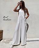 Стильный женский комбинезон с длинными и широкими брюками-трубами,4 цвета, Р-р.42-44,46-48  Код 735Ц, фото 2
