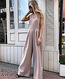 Стильный женский комбинезон с длинными и широкими брюками-трубами,4 цвета, Р-р.42-44,46-48  Код 735Ц, фото 5