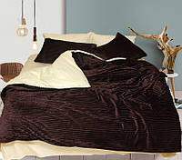 Постельное белье Зима Лето сатин велсофт на молнии двуспальное 180х215 TAG - Brown