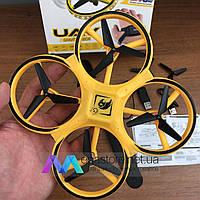 Квадрокоптер с сенсорным управлением UAV дрон с детский маленький летающий на радиоуправлении для детей