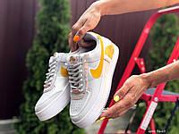 Женские кроссовки Nike Air Force 1 Shadow, білі з жовтим, белые с жёлтым, жіночі кросівки найк 1 шадов (9665)