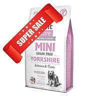 Сухой корм для собак Brit Care Grain-free Mini Yorkshire Salmon & Tuna 0,4 кг