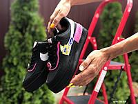 Женские кроссовки Nike Air Force 1 Shadow, чорні із рожевим, черные, жіночі кросівки найк 1 шадов (9664)