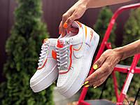 Женские кроссовки Nike Air Force 1 Shadow, білі з помаранчевим, белые, жіночі кросівки найк 1 шадов (9663)