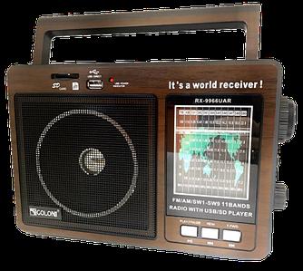 Радиоприемник GOLON RX-9966UAR - Большой портативный радиоприёмник - колонка MP3 с USB и аккумулятором