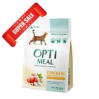 Сухой корм для кошек Optimeal Cat Adult Chicken 200 г