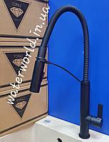 Смеситель для кухни с гибким гусаком TOPAZ SARDINIA TS-8818-BL