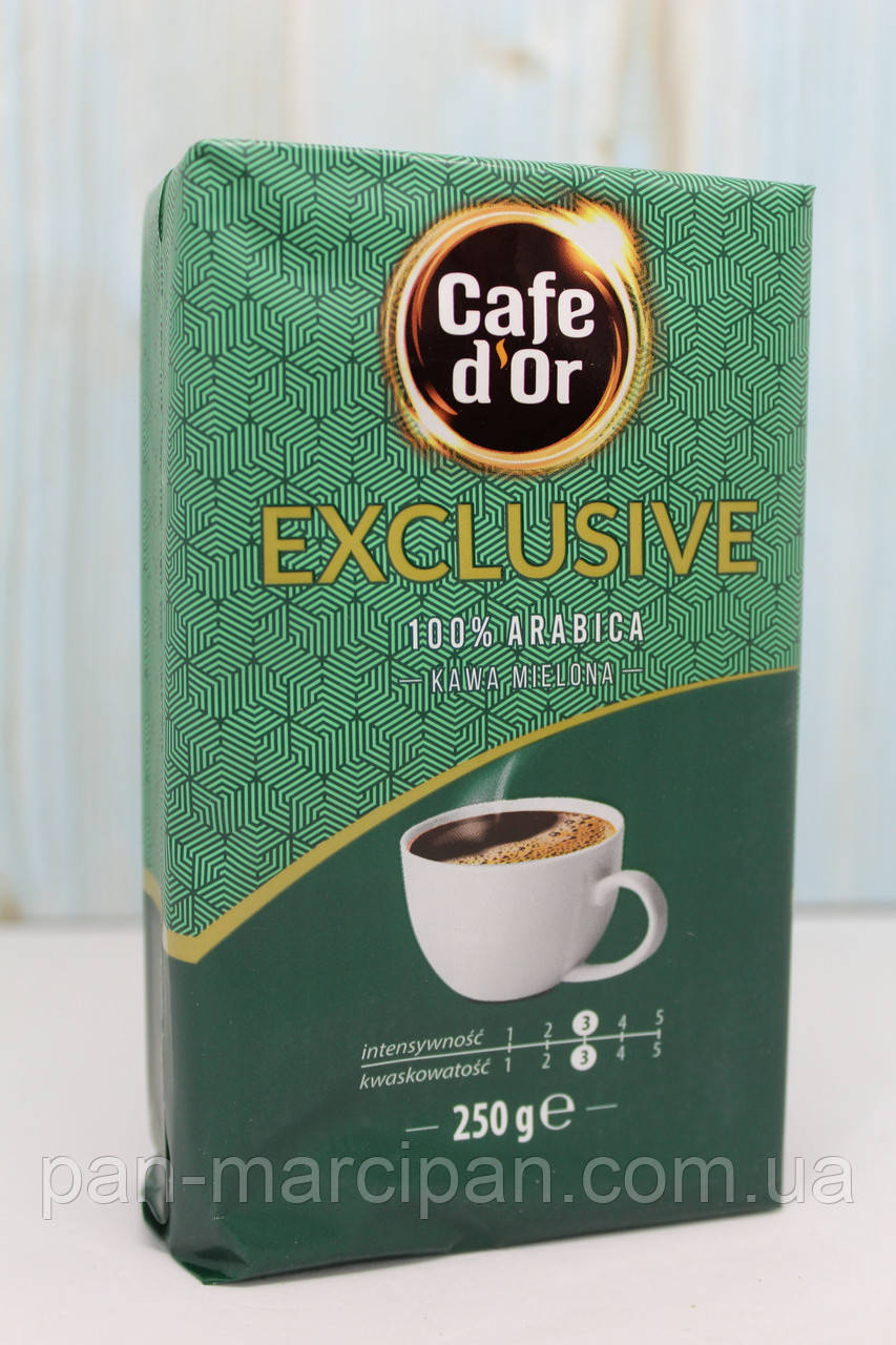 Кава мелена Cafe d'Or exclusive 100%arabica 250 гр