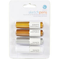 Набор ручек для плоттера Silhouette Sketch Pens 4 шт Metallic (814792011102)