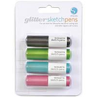 Набор ручек для плоттера Silhouette Sketch Pens Glitter 4 шт (814792011539)