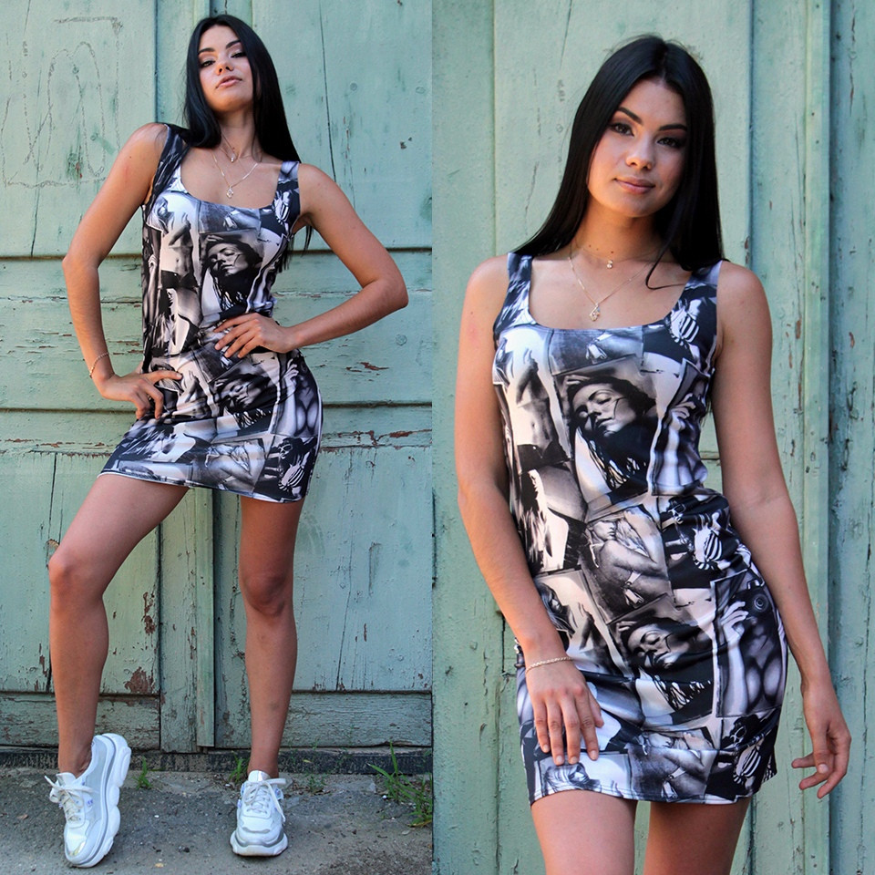 Модное летнее платье-майка