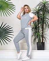 Женский модный летний костюм в спортивном  стиле в 3-х расцветках  с 48 по 54 размер, фото 2