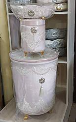 Набор корзин с крышкой для белья в ванную комнату