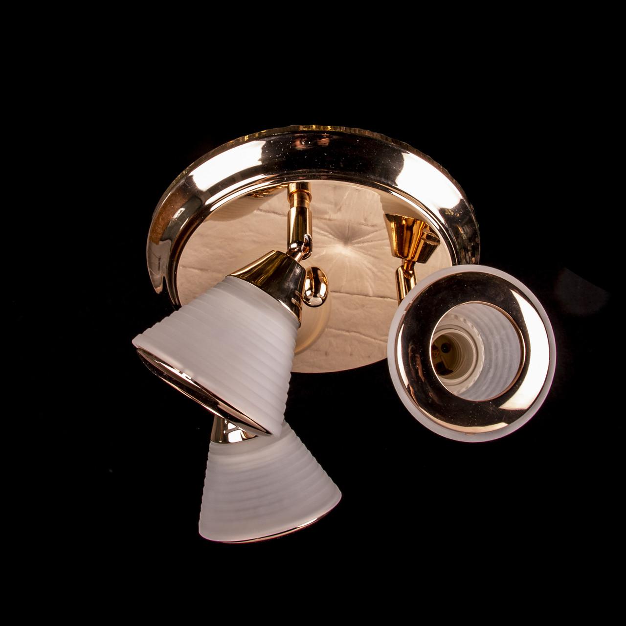 Потолочная люстра на три лампочки (золото) P3-1160C/3C/FG+WT