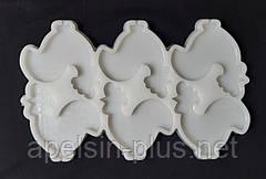 Молд силиконовый для леденцов и изомальта Петушок на 6 ячеек 7 см 6 см