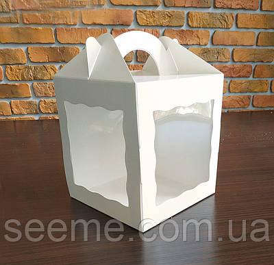 Коробка с окошком 200x200x220 мм