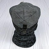 М 94047 Комплект для мальчика, подростка  шапка  с кнопкой на флисе и снуд, разние цвета, фото 6