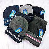 М 94029 Комплект для хлопчика, підлітка шапка будиночок на флісі і снуд, різні кольори, фото 8