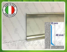 Алюминиевый плинтус Profilpas Metal Line 90/4, высота 40 мм Титан полированный глянец