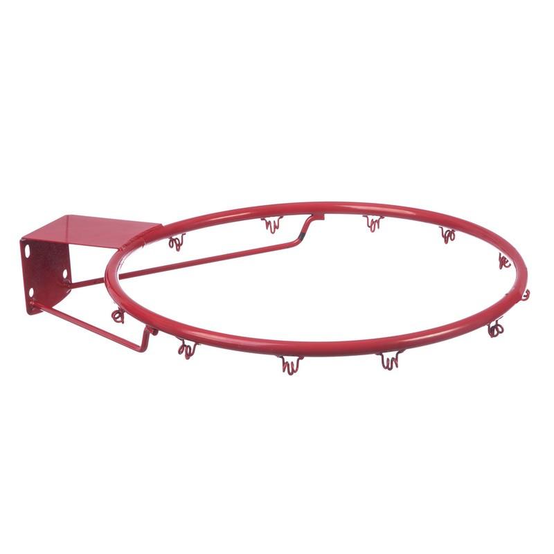 Баскетбольное металлическое кольцо 45 см с сеткой, болтами (C-0844)