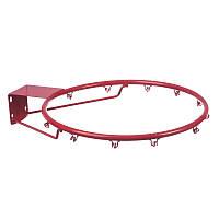 Баскетбольное металлическое кольцо 45 см с сеткой, болтами (C-0844), фото 1